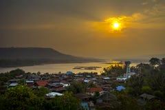 Sunrise in Countryside. Countryside khongjiam Ubonratchathani in Thailand Stock Images