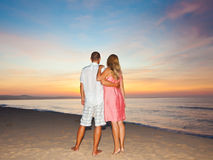 Sunrise couple Royalty Free Stock Photo