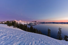 Sunrise at Crater Lake Royalty Free Stock Photo