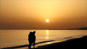Sunrise in Crete stock footage