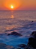 Sunrise in Crete - Greece. In July, it is best to take pictures of the sunrise in the morning between 6:30 to 7:00 h Royalty Free Stock Images