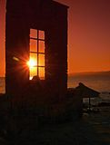 Sunrise in Crete - Greece. In July, it is best to take pictures of the sunrise in the morning between 6:30 to 7:00 h Royalty Free Stock Photo