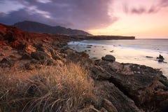 Sunrise in Crete, Greece. Stock Photo