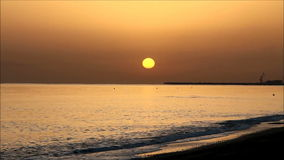 Sunrise in Crete stock video footage