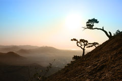 Sunrise in Crimea. Beautiful sunrise in crimea mountains Royalty Free Stock Photos