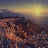 Sunrise at Crimea mountains_v Stock Photography