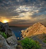 Sunrise in the Crimea Royalty Free Stock Photography