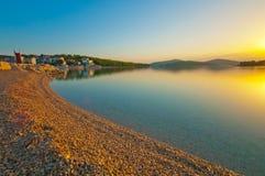 Sunrise in Croatia Stock Images
