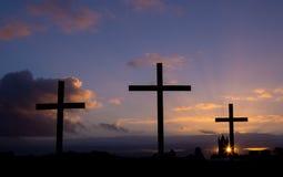 Sunrise Crosses Stock Images