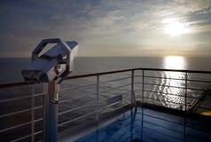 Sunrise at cruise deck ship Stock Images