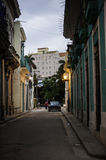Sunrise in Cuba. Day beginning on the streets of Cuba Stock Image