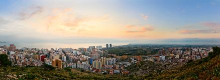 Sunrise in Cullera Stock Image