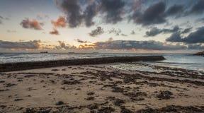 Sunrise at Cullercoats Bay. Royalty Free Stock Photo