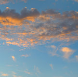 sunrise and cumulus clouds Royalty Free Stock Photo