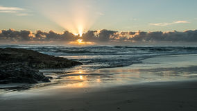 Sunrise at Currumbin Beach Stock Photography