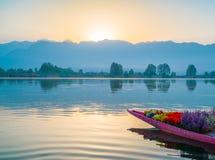 Sunrise on Dal lake, Kashmir India . Stock Image
