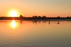 Sunrise in the Danube Delta Stock Photo