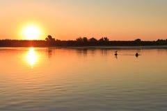 Sunrise in the Danube Delta Stock Photo