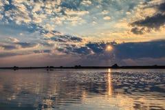 Sunrise in the Danube Delta Royalty Free Stock Image