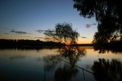 Sunrise at the danube delta romania Stock Image