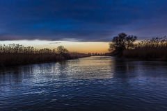 Sunrise in Danube Delta, Romania Royalty Free Stock Photos