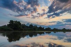 Sunrise in the Danube Delta, Romania Stock Photography