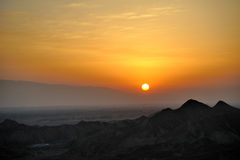 Sunrise in danxia landform Royalty Free Stock Image