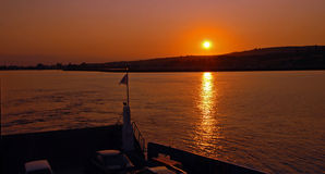 Sunrise on the Dardanelles, Turkey.  Royalty Free Stock Image