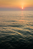 Sunrise on Dark Sea Royalty Free Stock Images