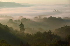 Sunrise on Dartmoor. UK  on a misty autumnal morning Stock Photography