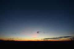 Sunrise, dawn, NYC, New York City,  from NJ jersey.  Wide view. Royalty Free Stock Photos