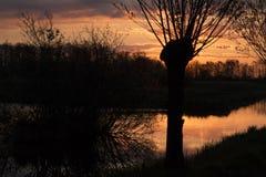 Landscapes in the Netherlands, Dutch landscapes royalty free stock image
