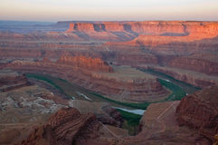Sunrise on Dead Horse Point Stock Image