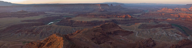 Sunrise on Dead Horse Point Panorama Stock Photography