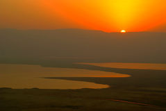 Sunrise at Dead Sea Royalty Free Stock Image