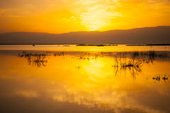 Sunrise in the Dead Sea Royalty Free Stock Images