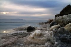 Sunrise on the Dead Sea Royalty Free Stock Photo