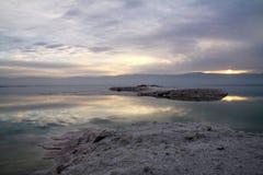 Sunrise on the Dead Sea Royalty Free Stock Photos