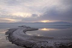 Sunrise on the Dead Sea Royalty Free Stock Photography