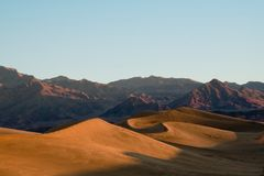 Sunrise in death Valley Royalty Free Stock Image