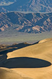 Sunrise on Death Valley Dunes Stock Image