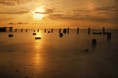Sunrise on the Delaware Bay stock photos