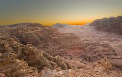 Sunrise in the desert Royalty Free Stock Photography
