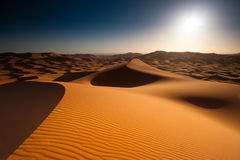 Sunrise in desert Stock Photography