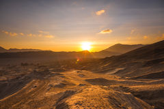 Sunrise at a desert Stock Photography