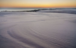 Sunrise on desert Royalty Free Stock Photo