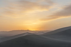Sunrise in the desert Royalty Free Stock Images