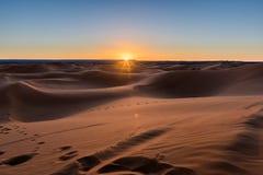 Sunrise in the desert Royalty Free Stock Image