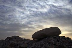 Sunrise in the  desert Royalty Free Stock Photos