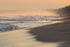 Sunrise on deserted beaches and coastline Royalty Free Stock Images
